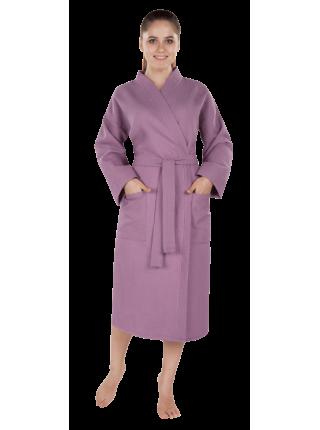 """Халат женский вафельный """"престиж фиолетовый"""""""