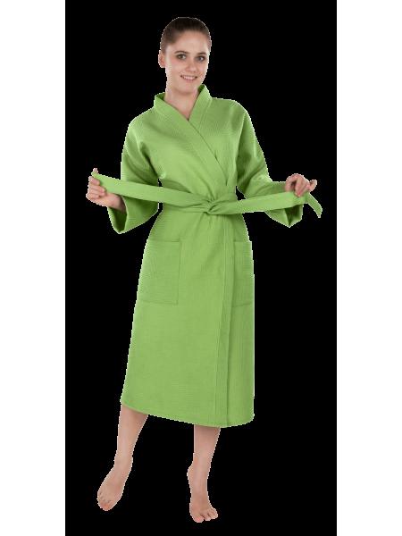 """Халат женский вафельный """"престиж зеленый"""""""