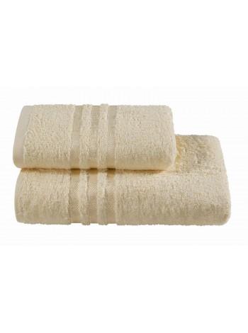 Полотенца махровые г/кр кремовые жаккард 440 г/м2
