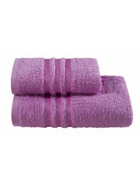 Полотенца махровые г/кр фиолетовые жаккард 440 г/м2