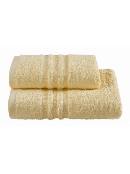 Полотенца махровые г/кр желтые жаккард 440 г/м2