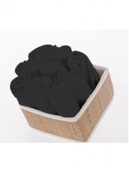 Салфетка махровая черная 30*30 (10 шт.)